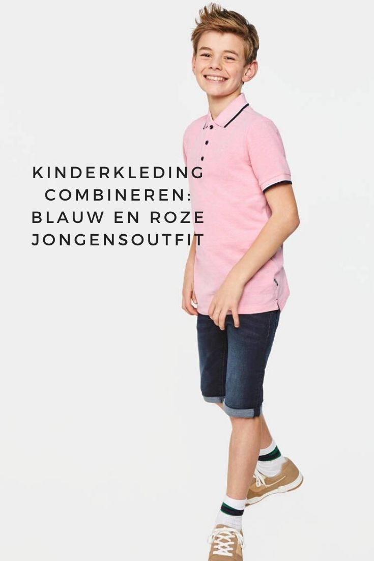 Boy's blue and pink outfit