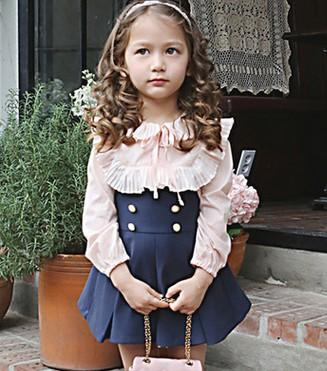 Blue and pink girl outfit