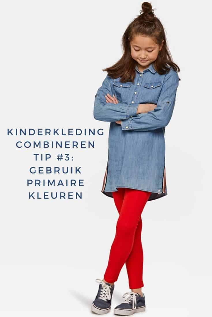 Girl wears primary colors red and blue