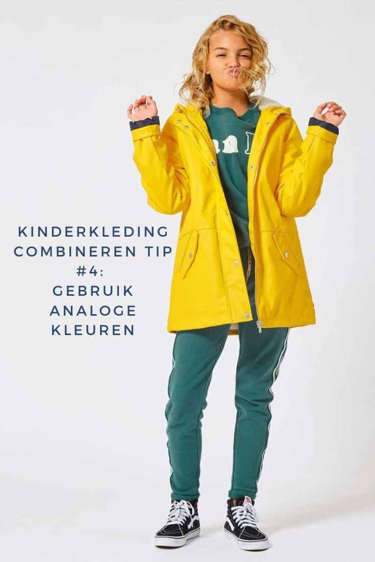 Girl with an analogous green and yellow outfit