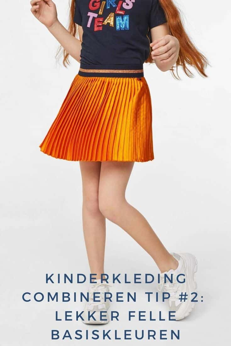 Girl with a nice bright skirt