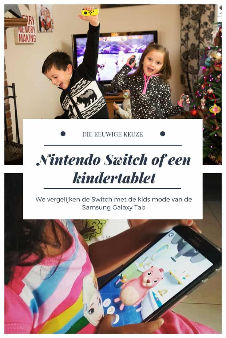 Nintendo Switch of Samsung kindertablet