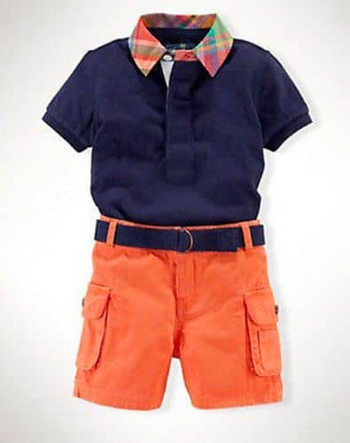 Orange and blue boys' outfit