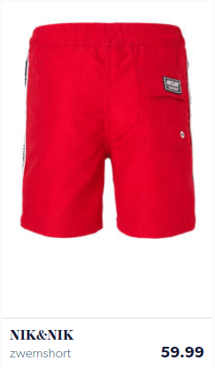 Red boys shorts