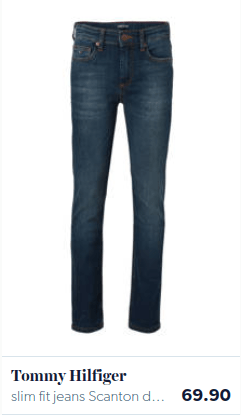 Slim fit blauwe jeans