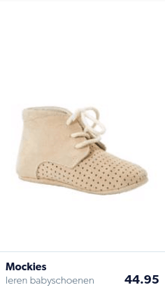 Tan baby shoes