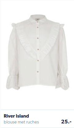 wiite ruches blouse