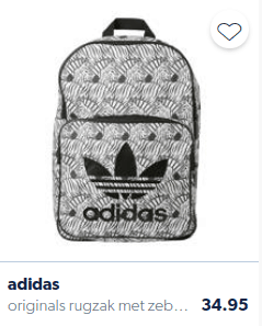 Backpack for children with zebra print