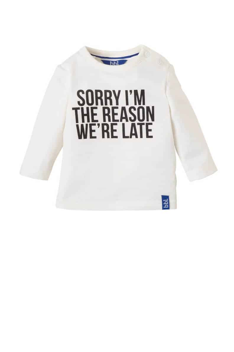 funny text on baby shirt