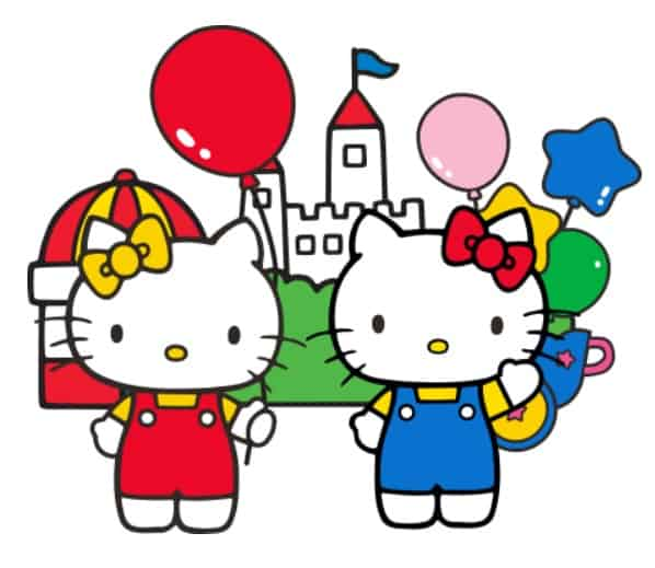 Hello kitty and mimmy duplo collaboration