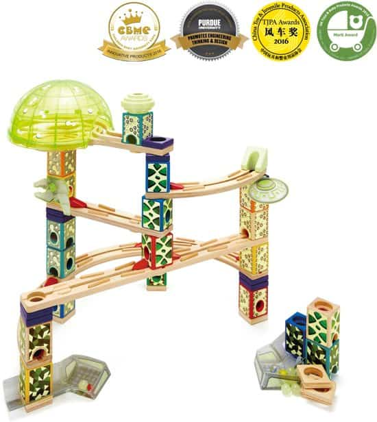 Hape space city houten knikkerbaan