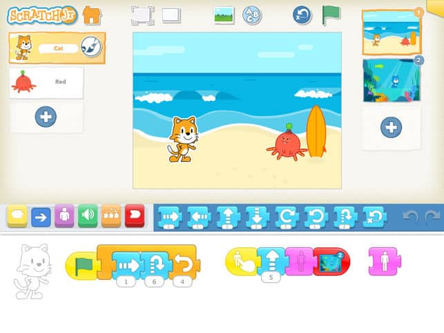 Scratch jr online codeer spel