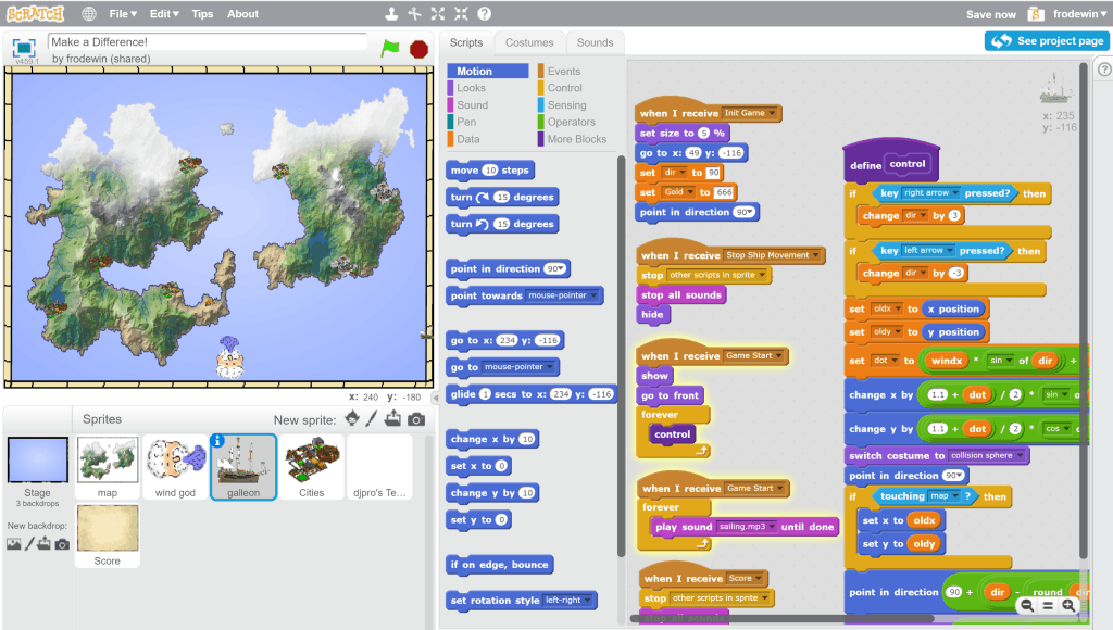 Scratch programming van MIT