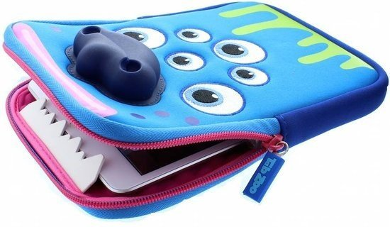 Tabzoo-tablet-hoes-blauw-monster