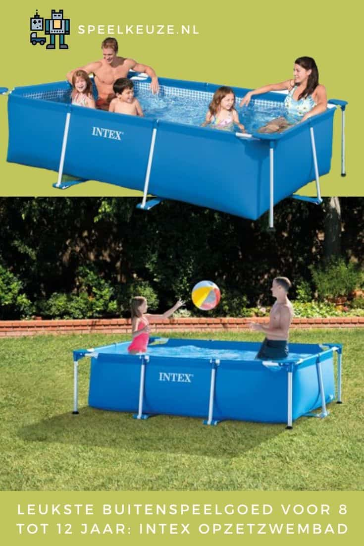 Children and a family in the Intex above ground pool