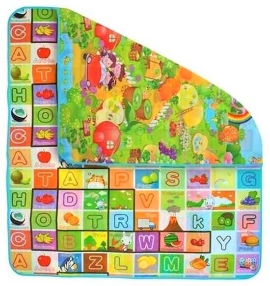 Groot Speelkleed voor kinderen 180x200cm in vrolijke kleuren - Dubbelzijdig! Speelmat - Speeltapijt - Buitenspeelgoed