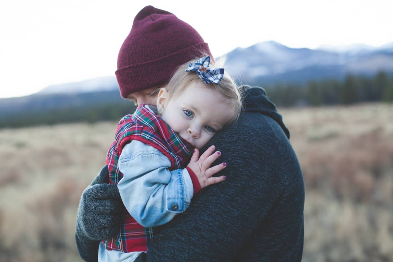 with cuddling you create a close bond with your child