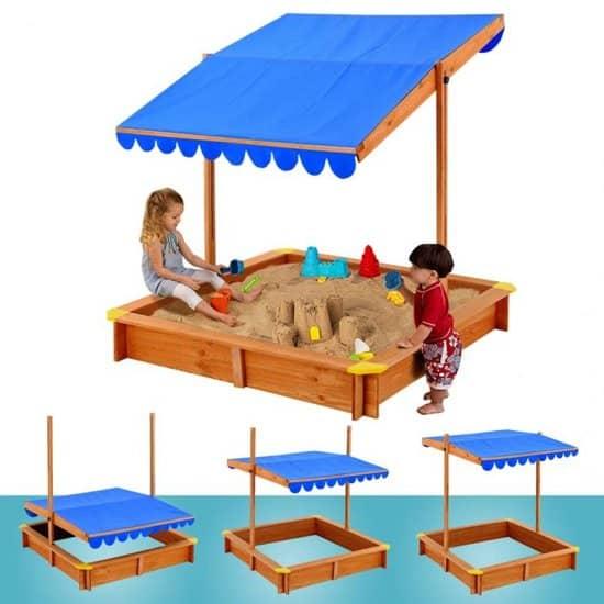 Beste grote zandbak van hout met dak