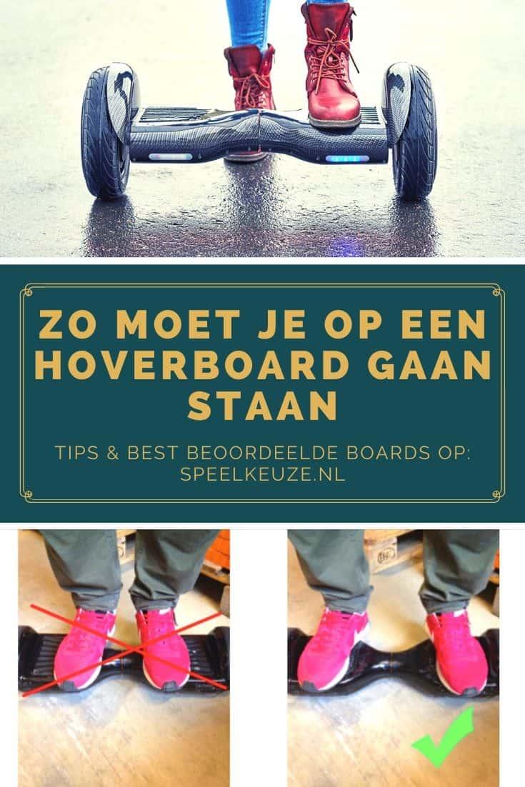 Zo moet je op een hoverboard gaan staan