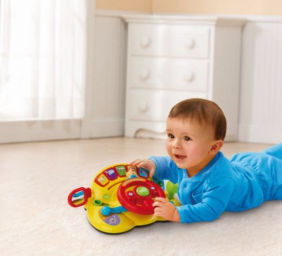 Best play wheel to help baby sit: Vtech Baby my first steering wheel