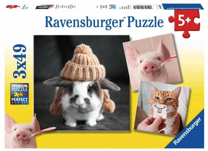 Ravensburger Puzzel Komische Dieren portretten