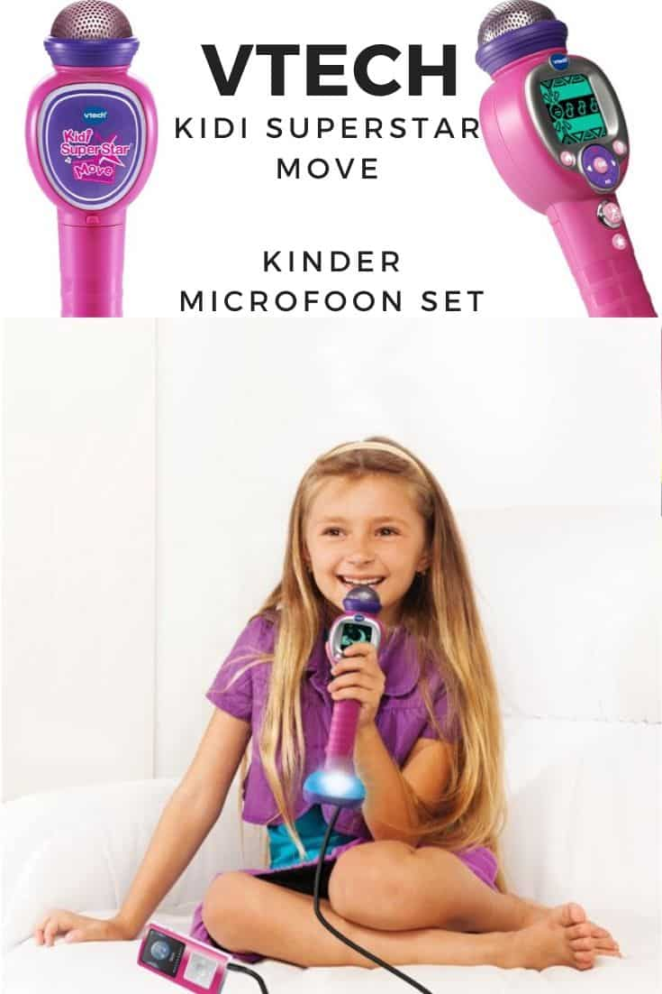 Vtech kidi superstar move kinder microfoon set