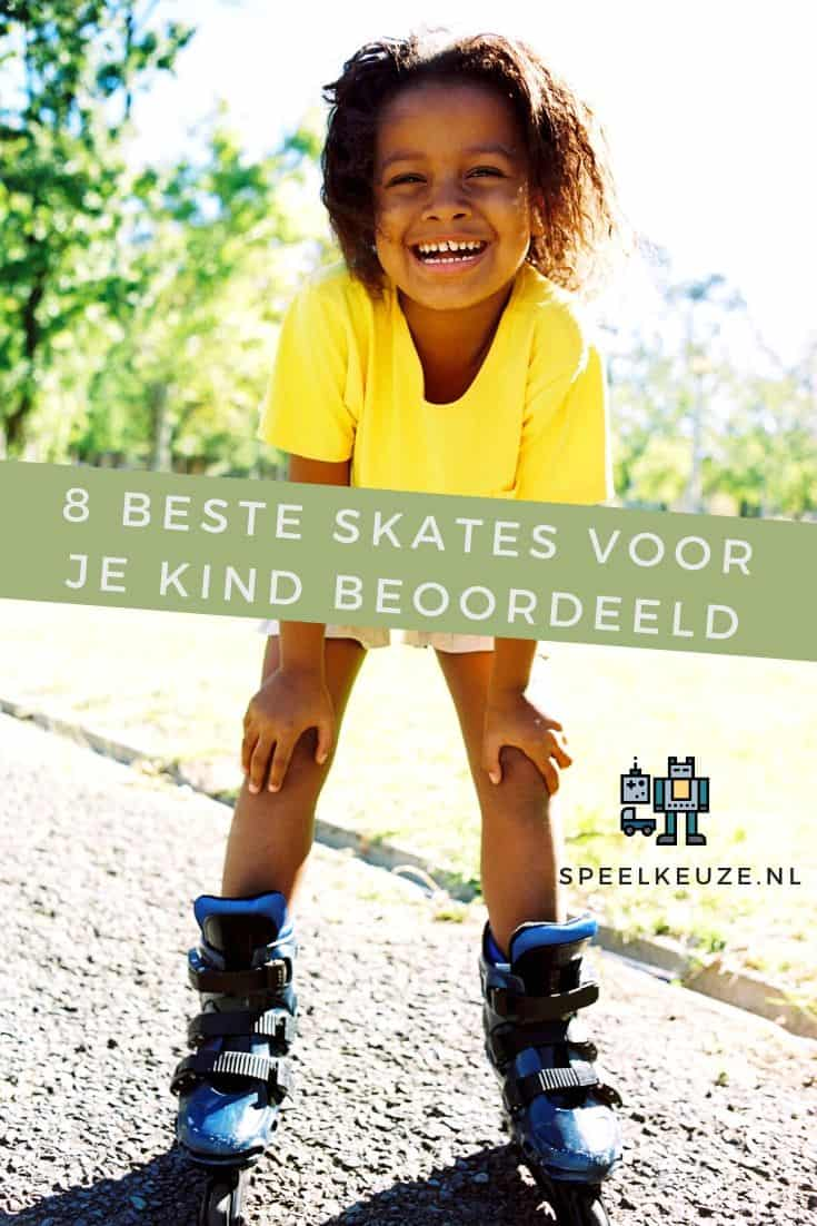 Child outside on the street on inline skates