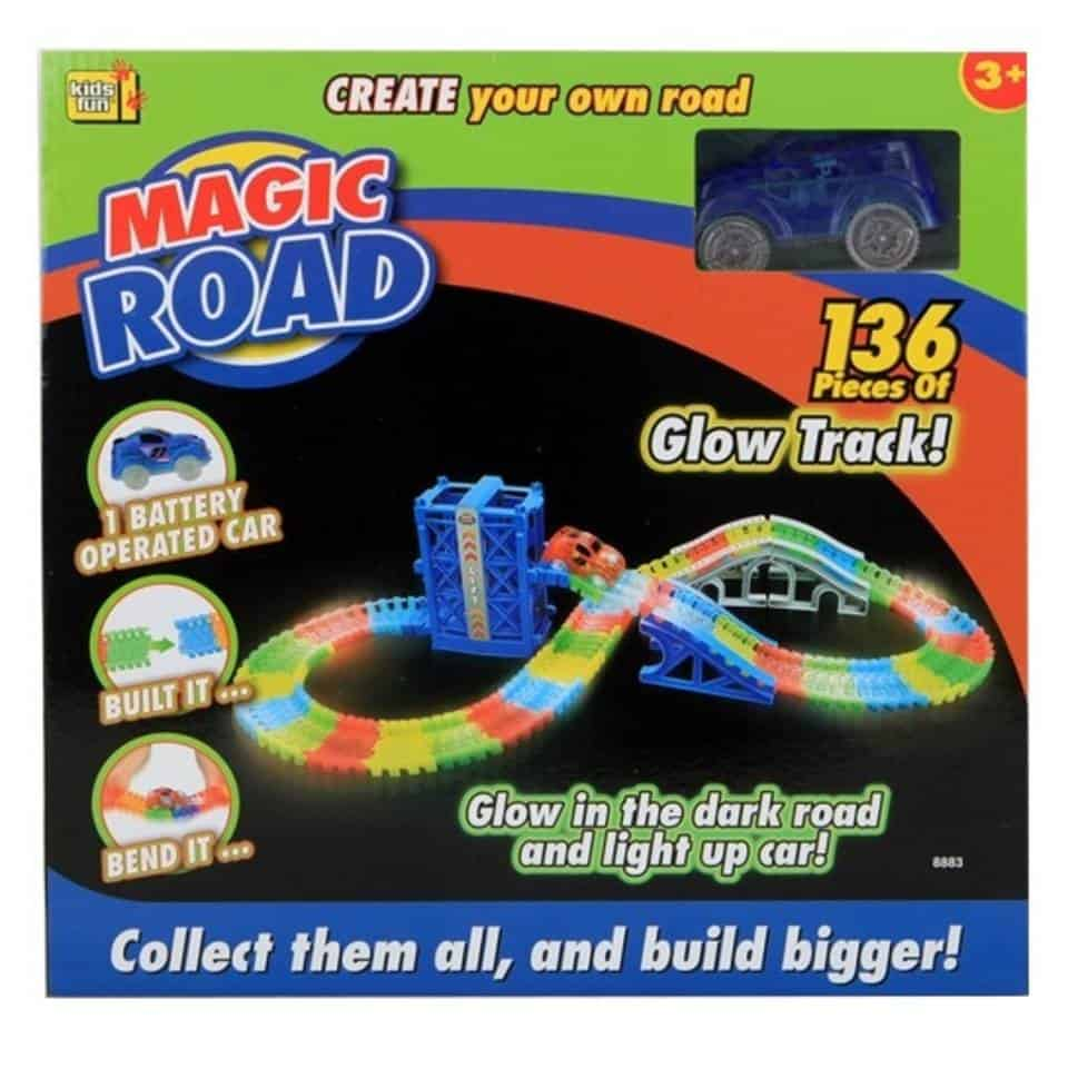 Glow in the dark racebaan Kids Fun Magic Road autobaan