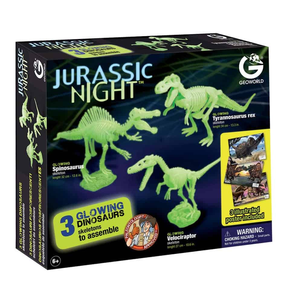 Jurassic Night glow in the dark dinosaurussen