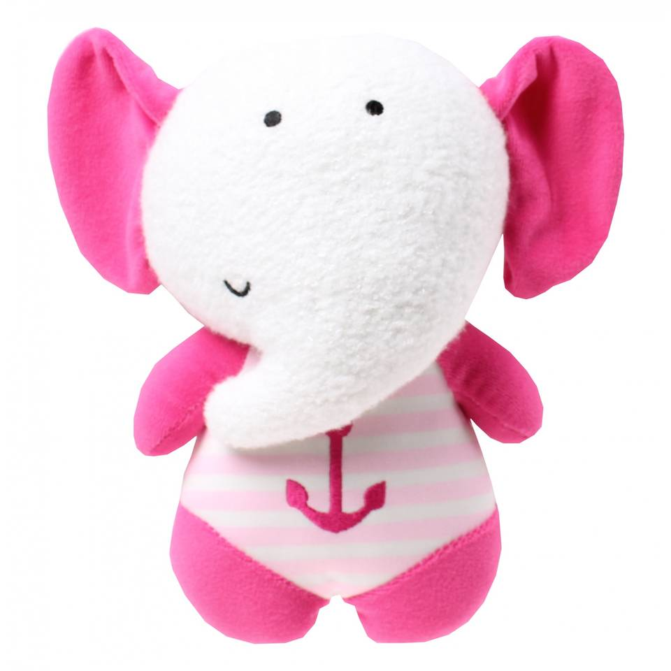 Luminou Glow In The Dark Knuffel olifant roze 20 cm