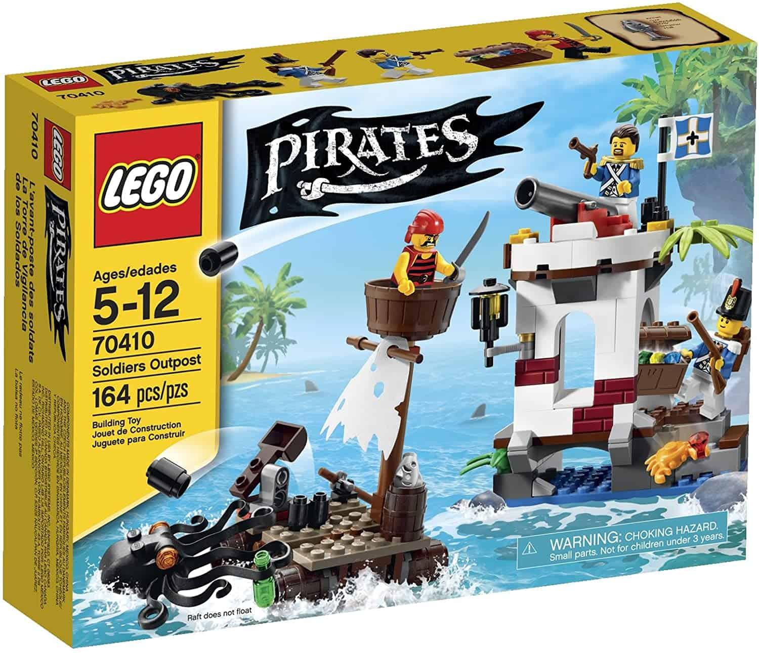Best LEGO pirate raft: Soldiers Lookout 70410