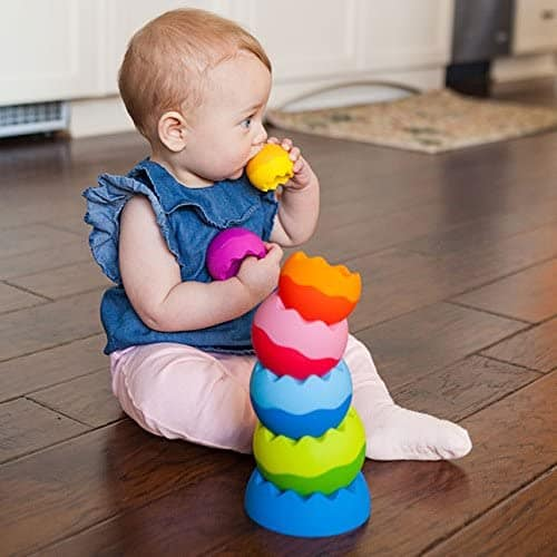 Cutest soft bite stack of toys: Fat Brain Toys Tobbles Neo