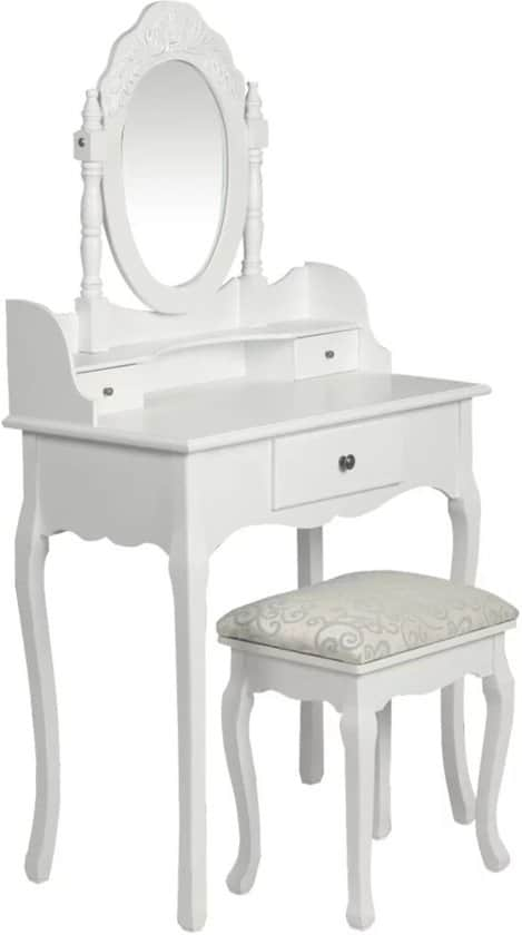 VidaXL baroque dressing table with stool