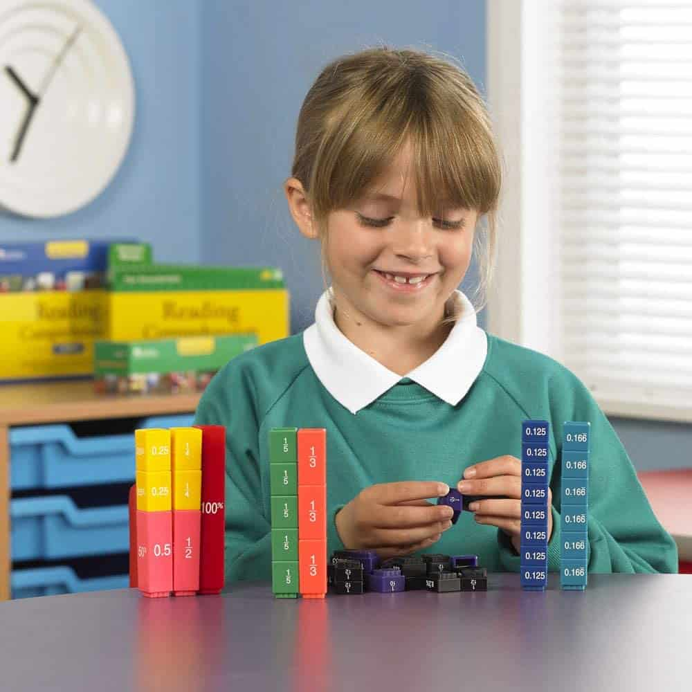 Best STEM toys for math: Learning Resources Fraction Tower