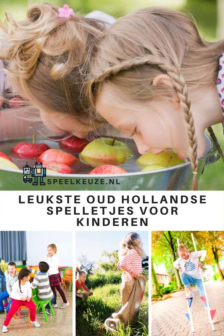 Collage with 4 old Dutch games for children