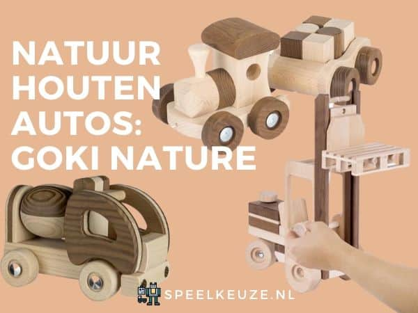 Image with three of the nature wooden Goki cars