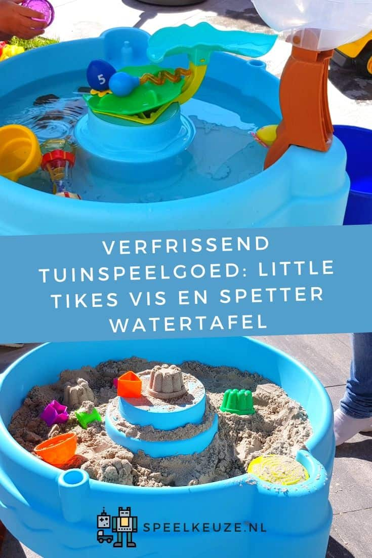 Photo of the Little Tikes water table with water and sand in it