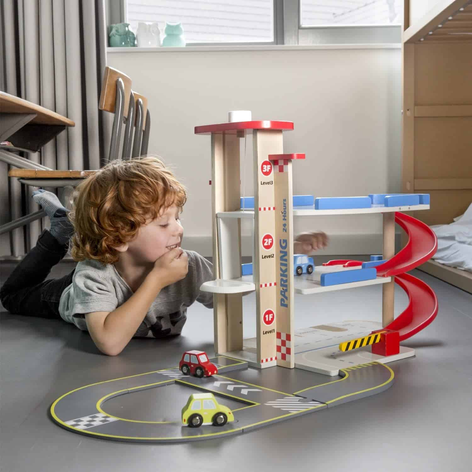 Best toy parking garage with lift: New Classic Toys