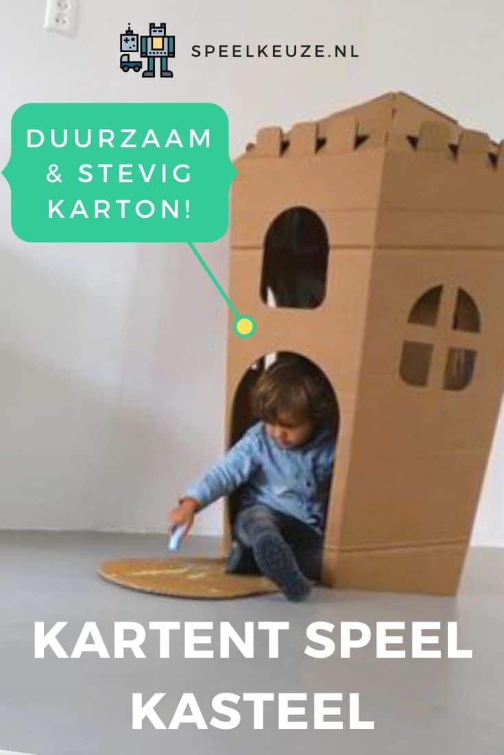 Photo of a boy coloring his KarTent sustainable cardboard play castle