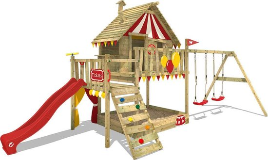 Luxury playhouse with slide and swing: WICKEY Climbing Frame Smart Trip