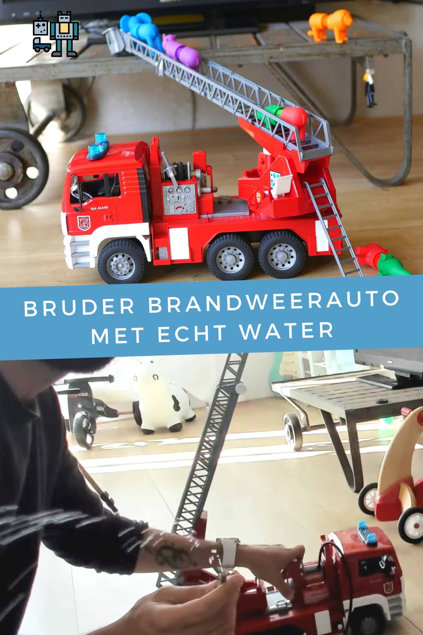 Bruder fire engine with real water