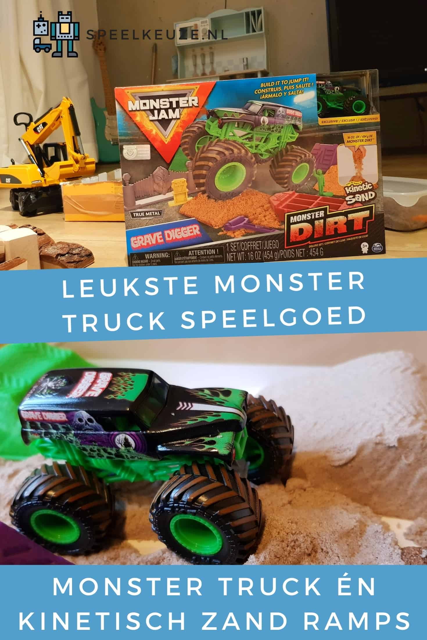 Cutest monster truck toys with kinetic sand