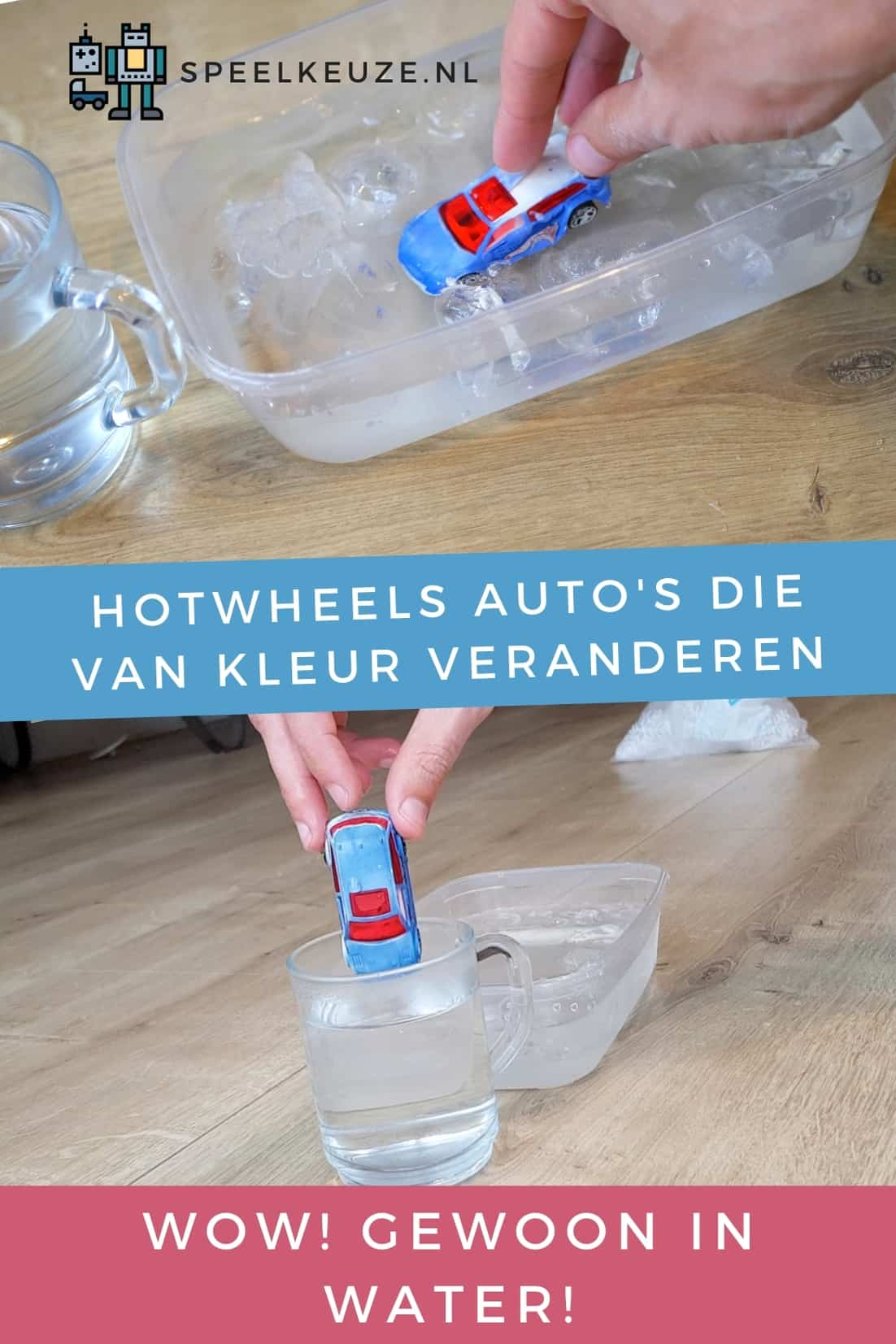 HotWheels cars that can change color in water