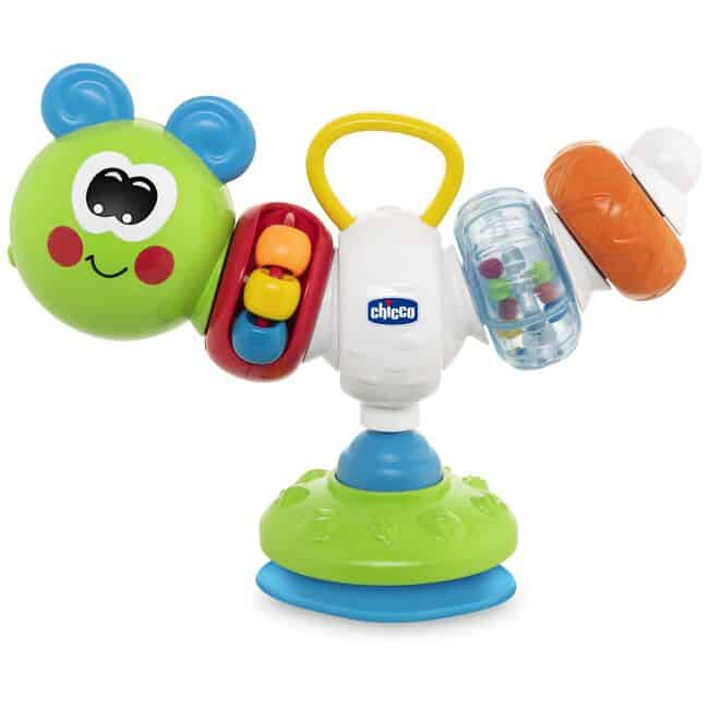 Best suction cup toys with sounds: Chicco rattle Phil the caterpillar