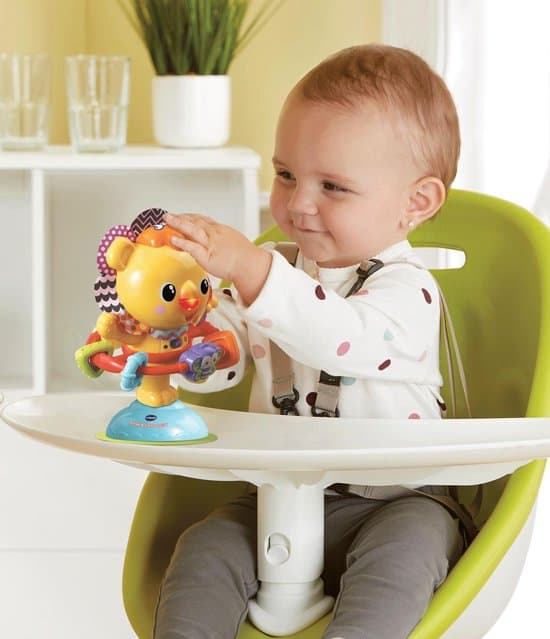 Best suction cup toys with songs: Vtech Dance and Turn Lion