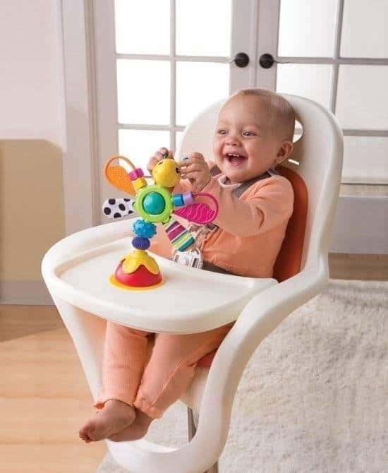 Best suction cup toys with many colors: Lamaze Freddie the Firefly High Chair Toy