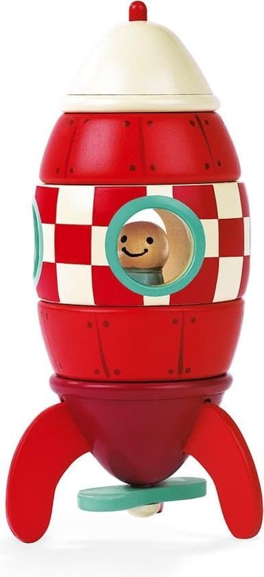 Cutest Janod in space: Janod Magnet Set Rocket