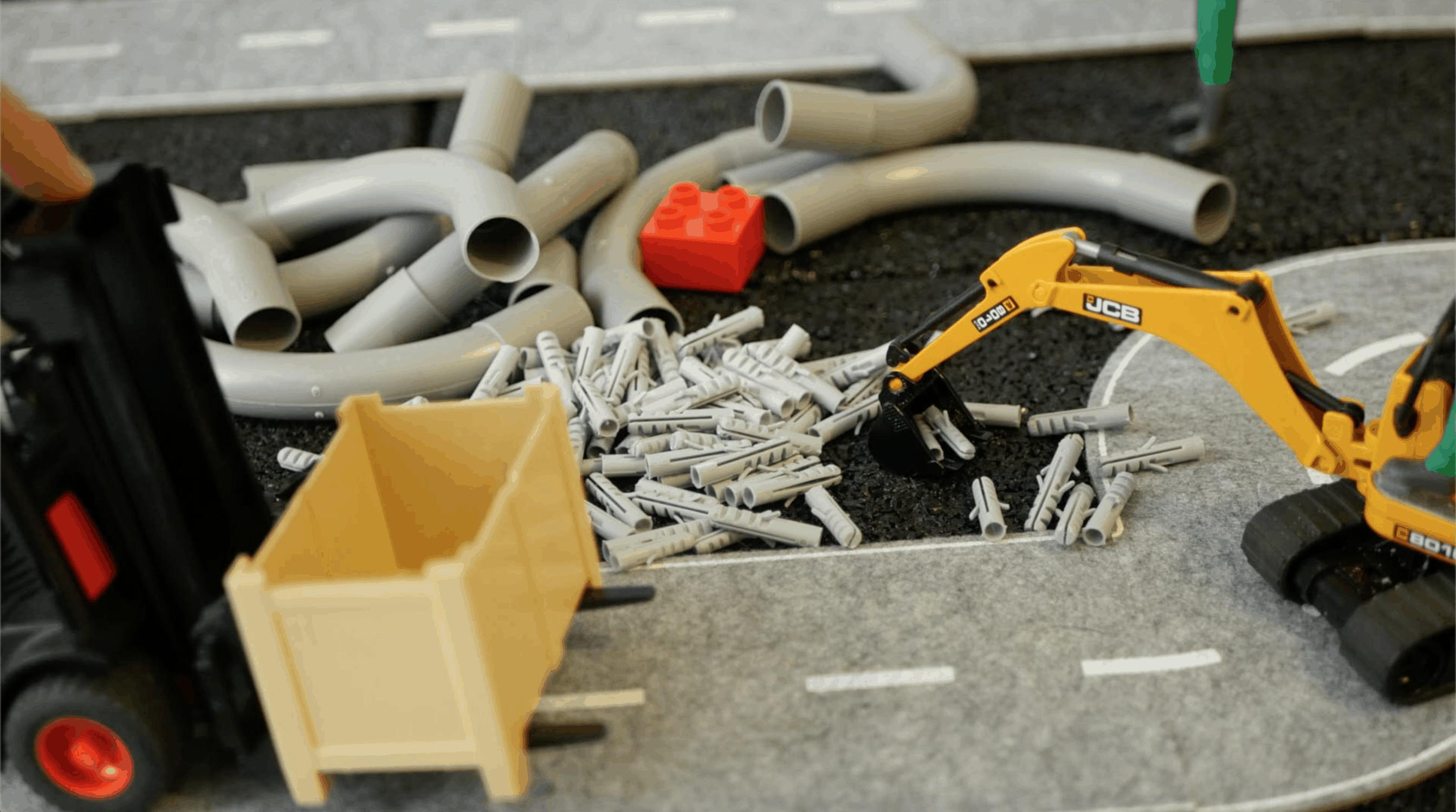 Tapones para juguetes de construcción