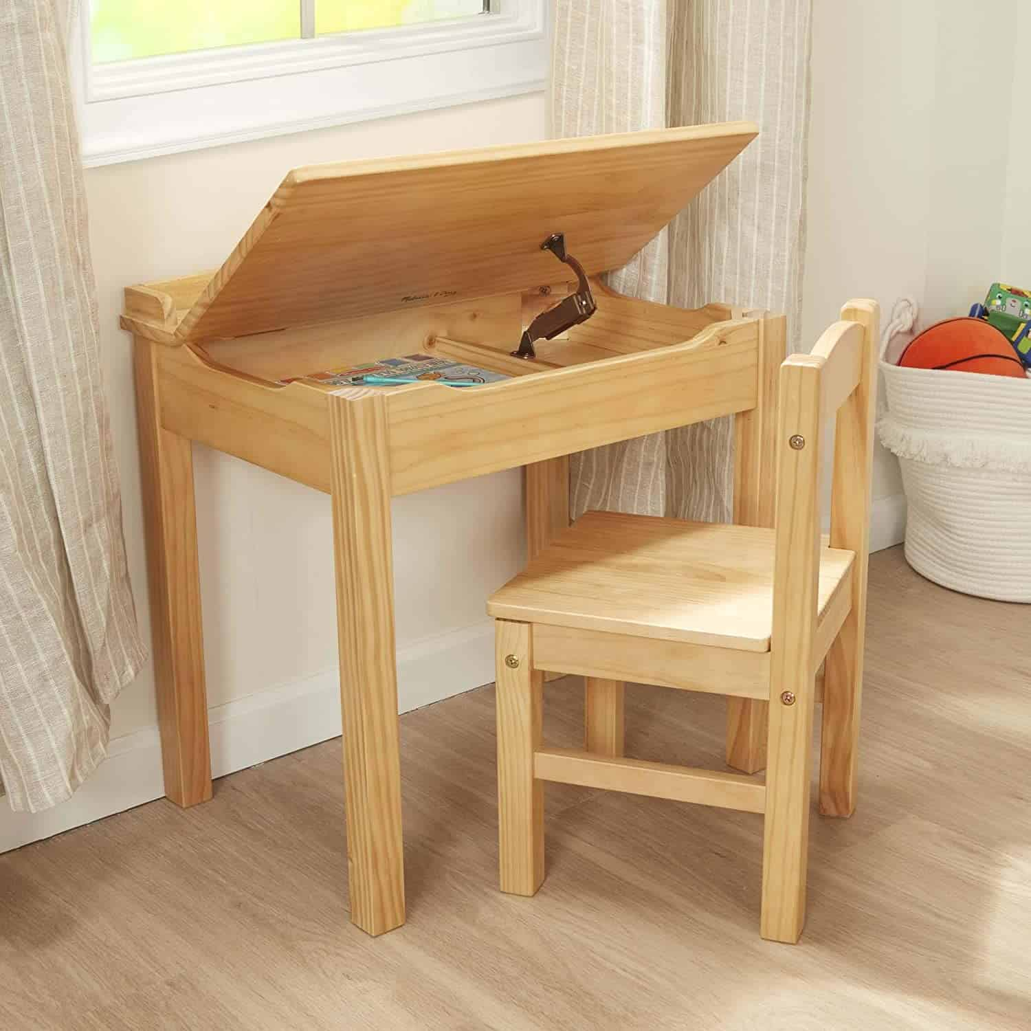 Best toy cabinet desk with drawers: Melissa & Doug Lift-Top table