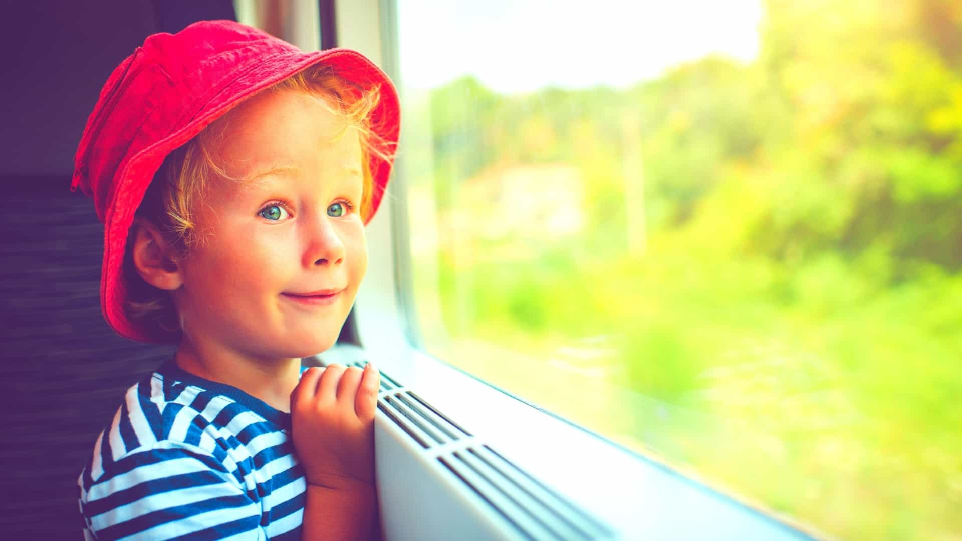 From what age a child can only travel by train